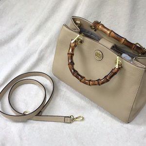 Kate Landry Bamboo Handle Bag EUC